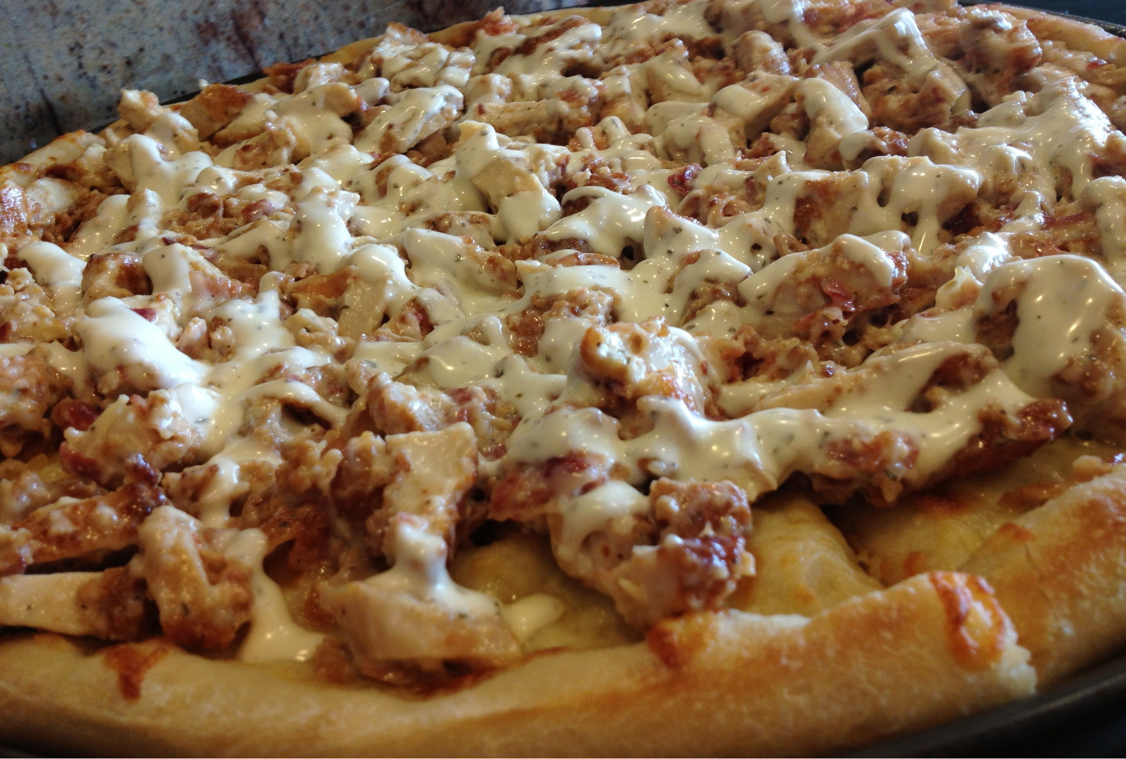 Chicken bacon ranch pizza sal 39 s pizzeria for Pizza pizzeria